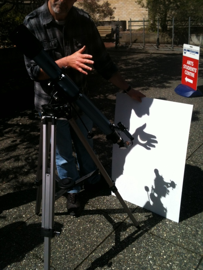 Solar eclipse projection