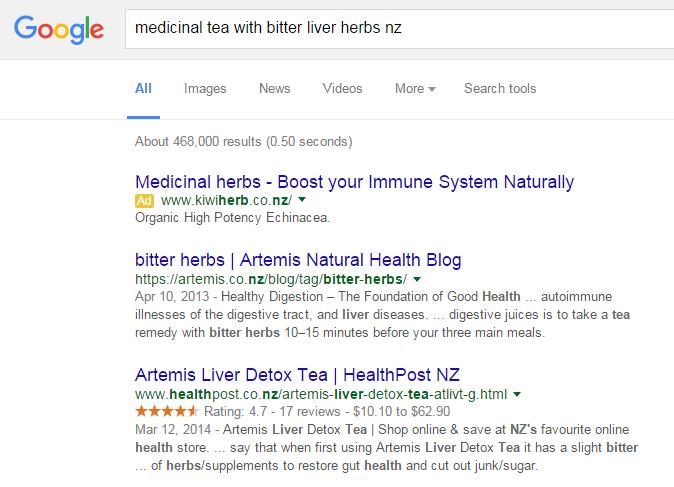 Google Liver Detox Tea